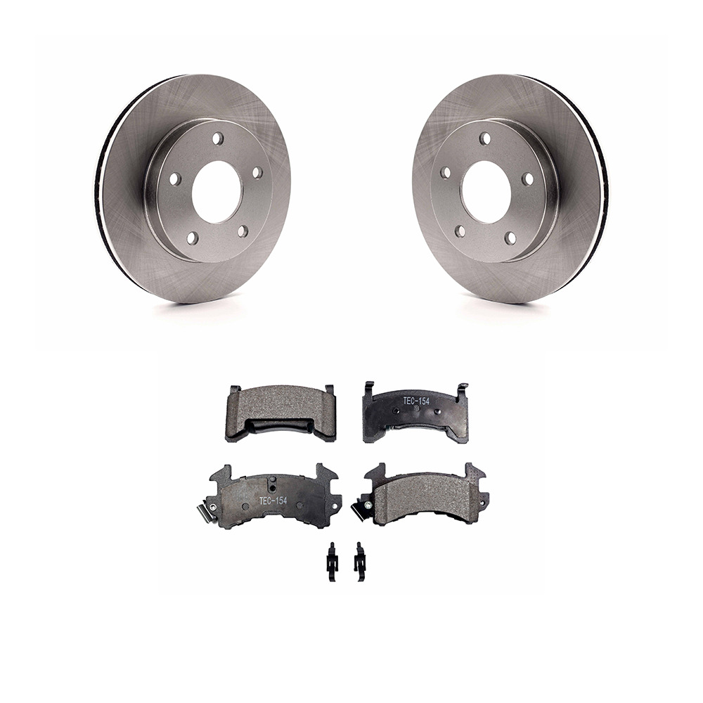 Rotors Metallic Pads R OE Replacement 1998 1999 2000 Chevy S10 4WD