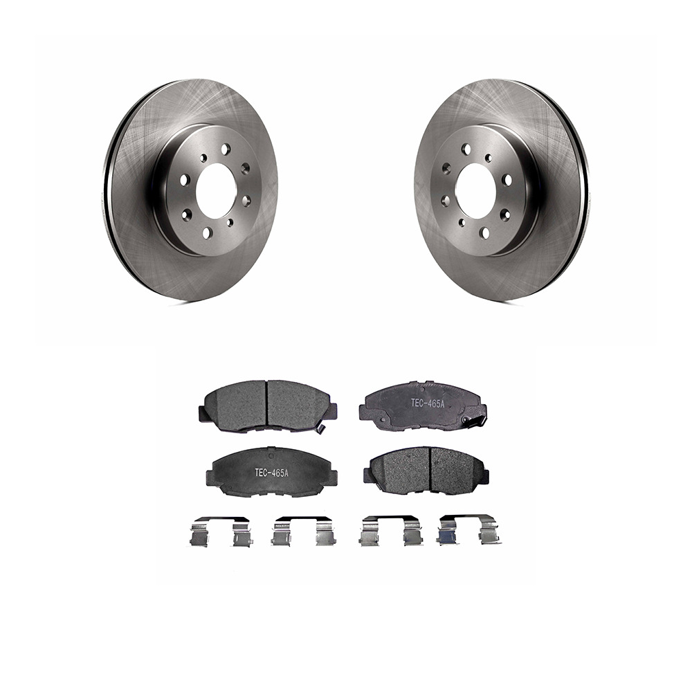 Front Disc Rotors & Ceramic Brake Pads Fits Honda Civic