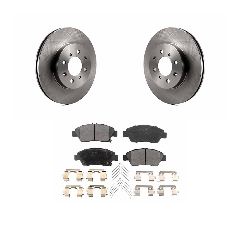 Civic del Sol Front Rear  Blank Brake Rotors+Ceramic Brake Pads Fit Honda Civic