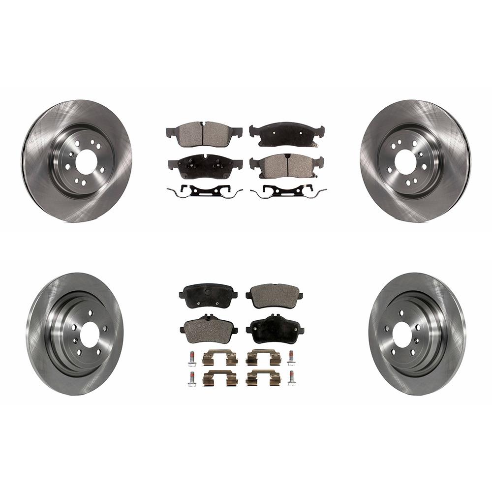 Rear Disc Rotors /& Ceramic Brake Pads Fits Mercedes-Benz