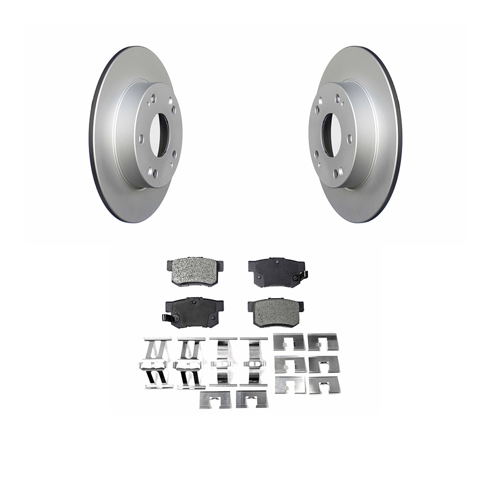 Rear Coated Disc Rotors & Semi-Metallic Brake Pads Fit