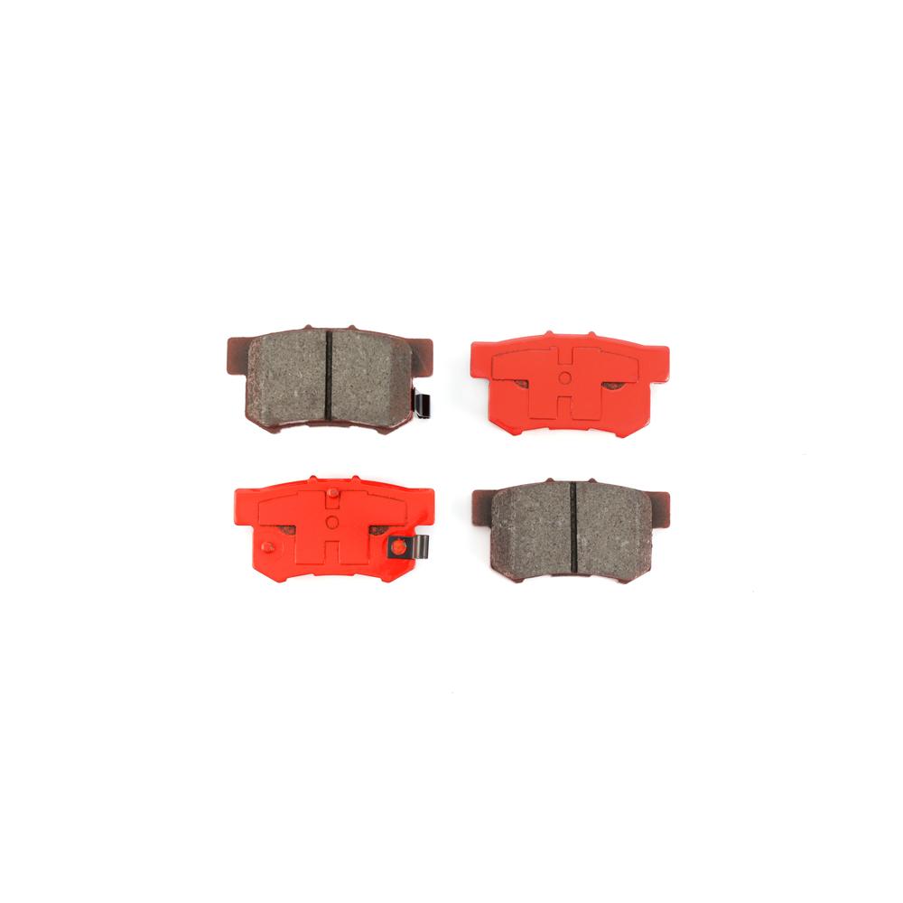 Rear Disc Rotors & Semi-Metallic Brake Pads Fits Honda