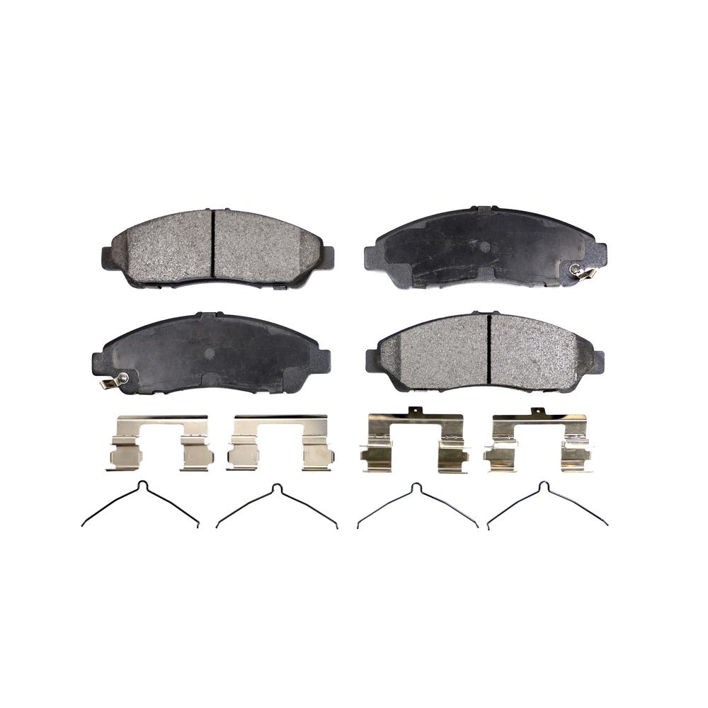 Front Disc Rotors & Ceramic Brake Pads Fits Honda Pilot