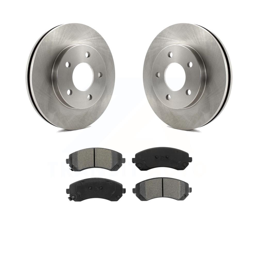 Metallic Pads For RENDEZVOUS CHEVY VENTURE AZTEK MONTANA Front Brake Rotors