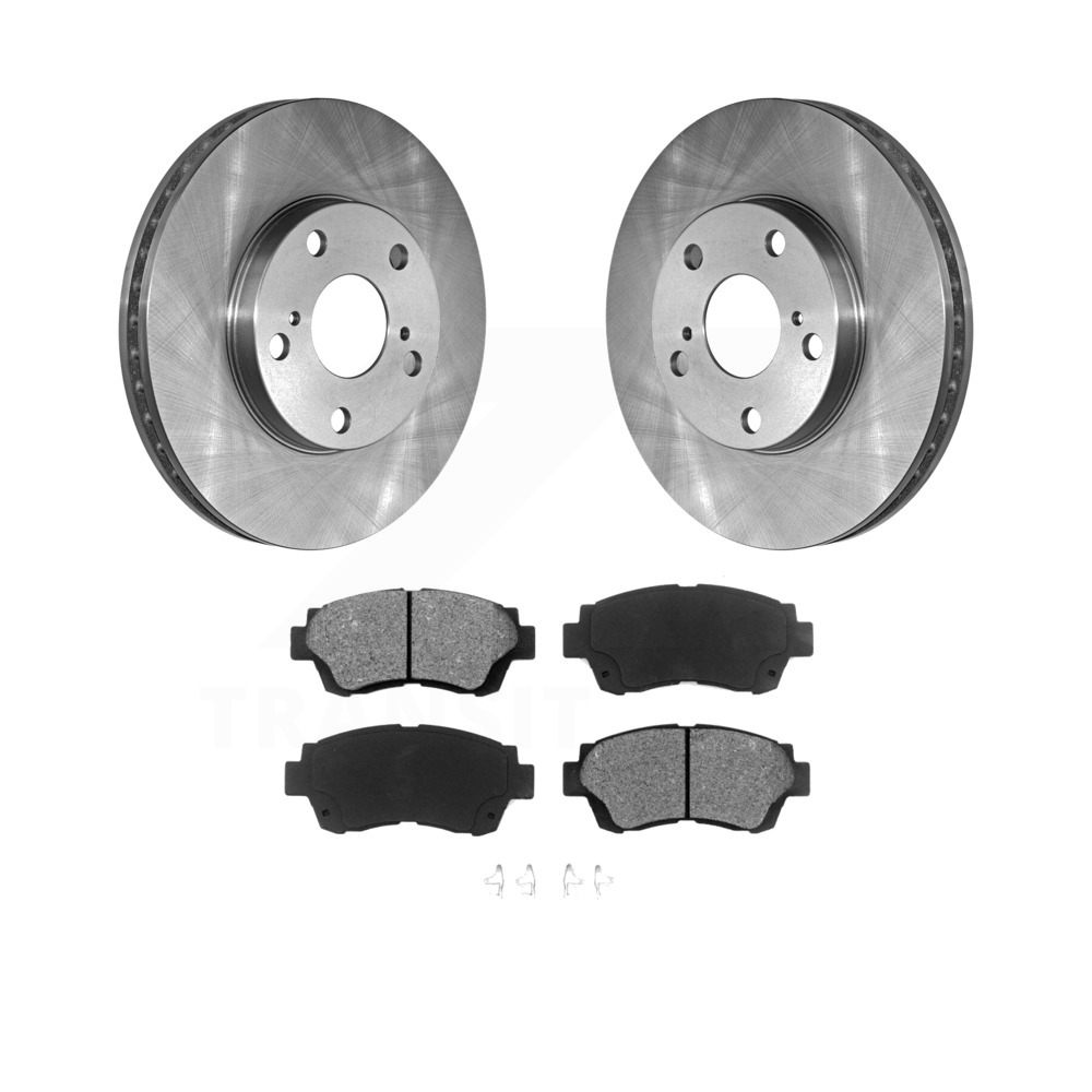 Front Drill /& Slot Brake Rotors /& Ceramic Pads For Toyota Avalon Camry Sienna