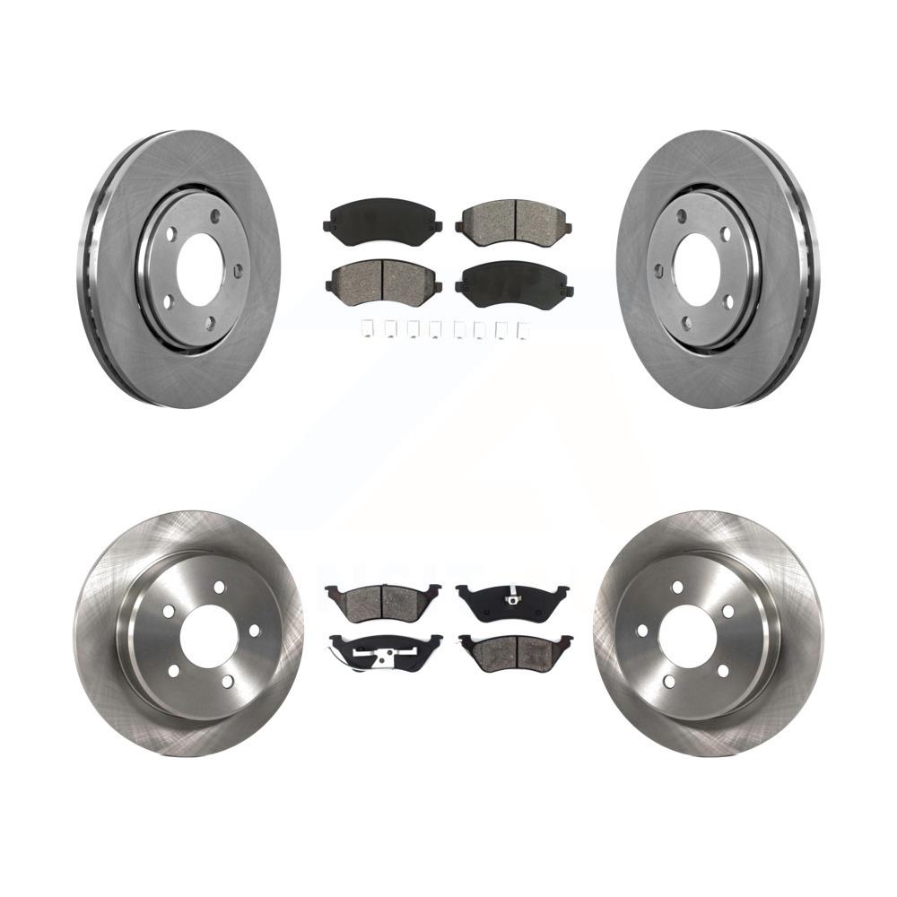Front Disc TQ Rotors /& Semi-Metallic Brake Pads Fits Chevrolet Pontiac G6 Malibu