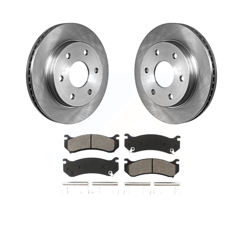 2003 2004 GMC Sierra 1500 See Desc OE Replacement Rotors Metallic Pads F+R