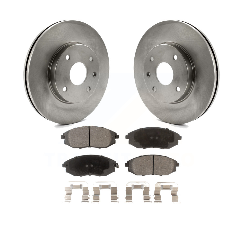 Suzuki Epica Fits Chevrolet Verona Front Rear Blank Brake Rotors+Ceramic Pads