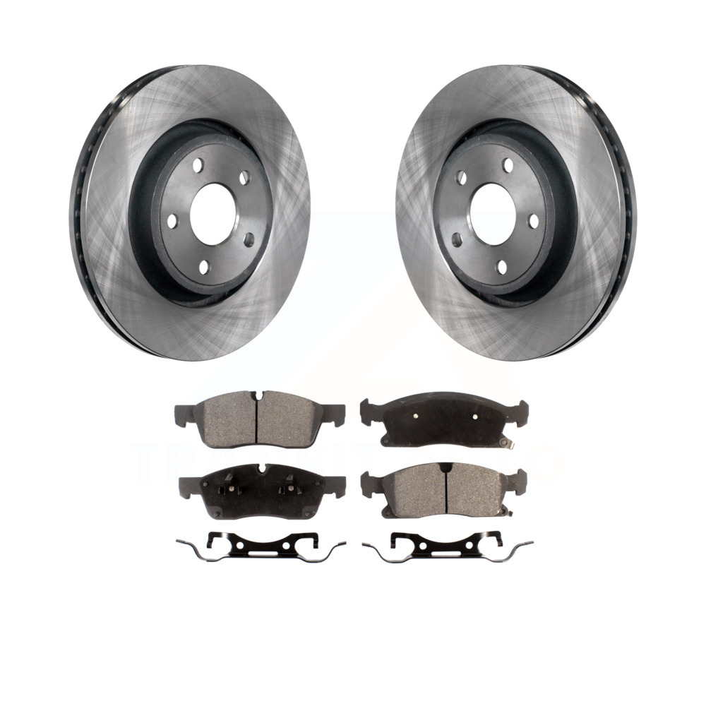 Front Brake Rotors /& Carbon Ceramic Pads For Dodge Durango Jeep Grand Cherokee
