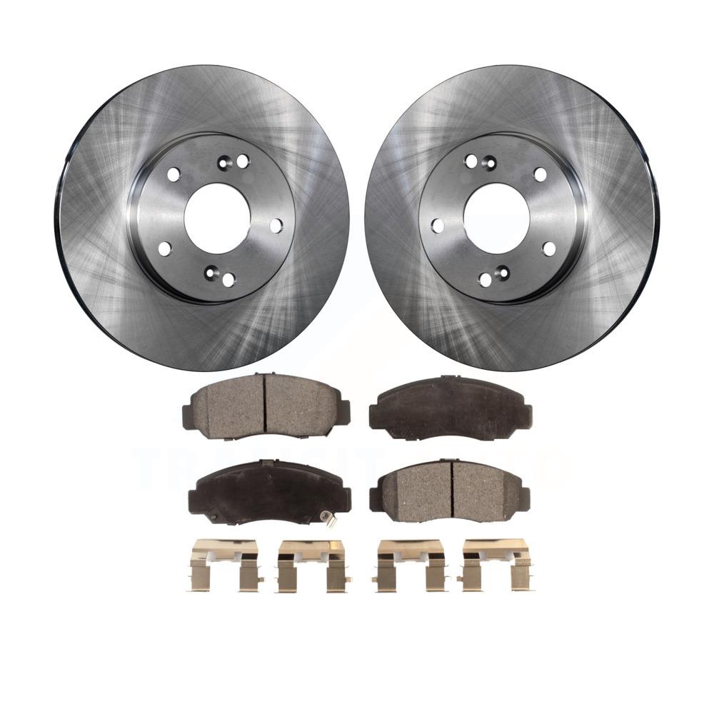 Front Disc Brake Rotors And Ceramic Pads Kit Honda Accord