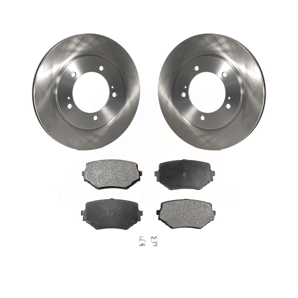 Rear Disc Brake Rotors and Ceramic Brake Pads for 2010 Suzuki Grand Vitara No Hardware Included For Brake Pads With Two Years Manufacturer Warranty