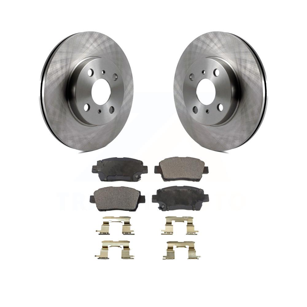 Echo Front  Drill Slot Brake Rotors+Ceramic Brake Pads Fit Toyota MR2 Spyder