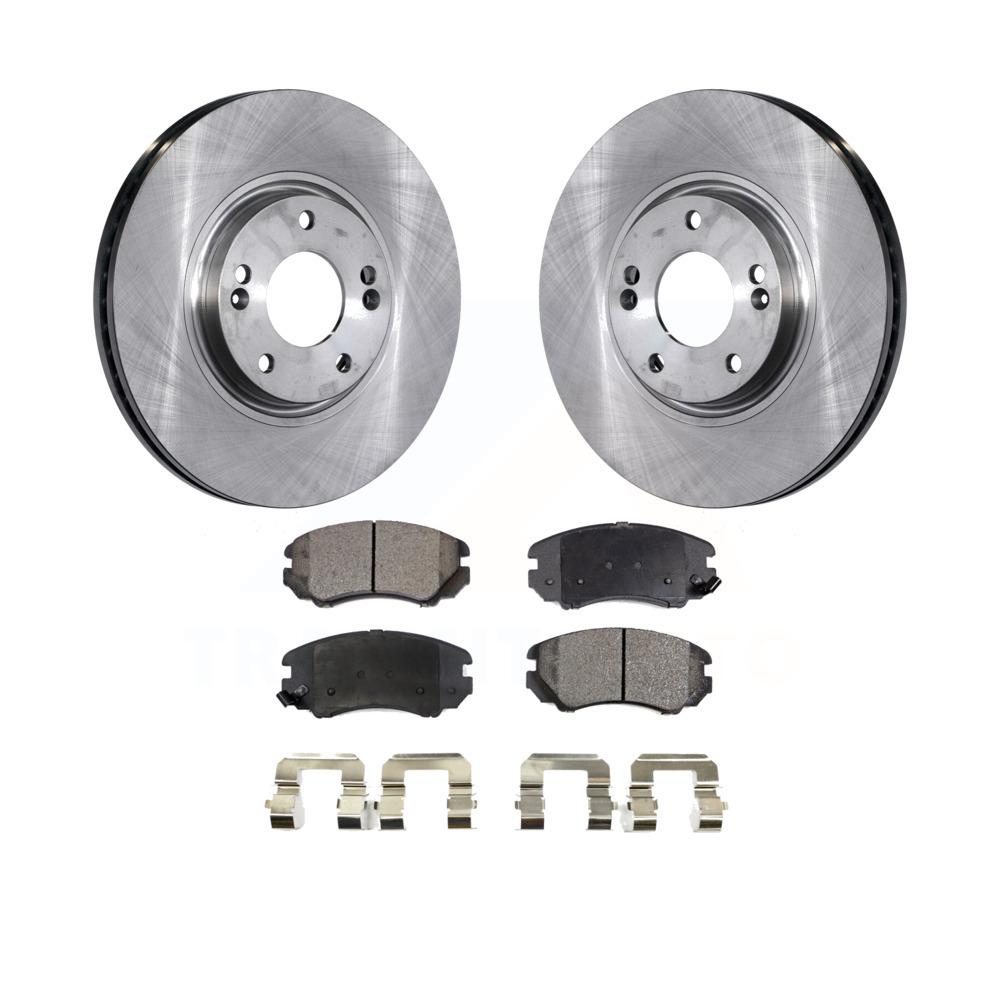 Kia Rondo Front 2 Premium Rotors and 4 Ceramic Pads for 2007-2009