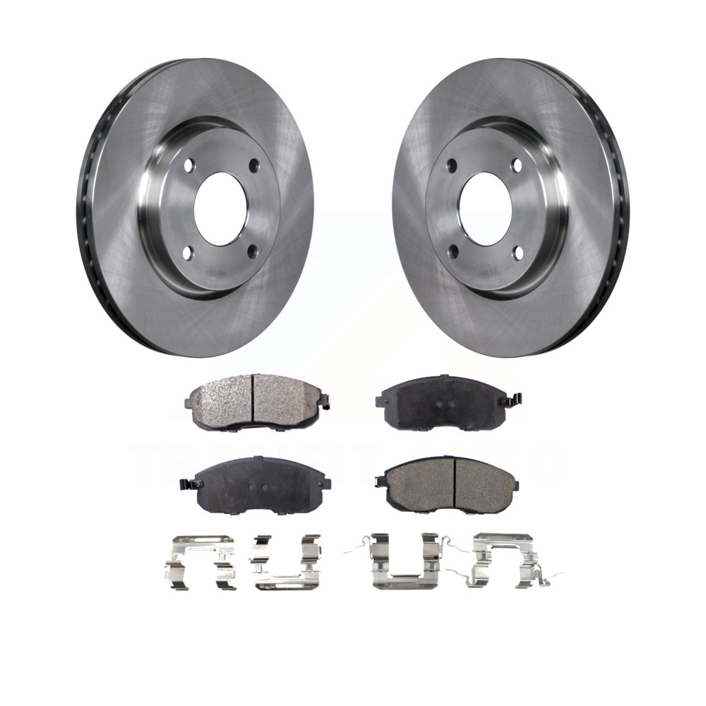 Max Brakes Front Supreme Brake Kit KM041641 Fits: 2012 12 Nissan Versa 1.8L Engine Models OE Series Rotors + Ceramic Pads