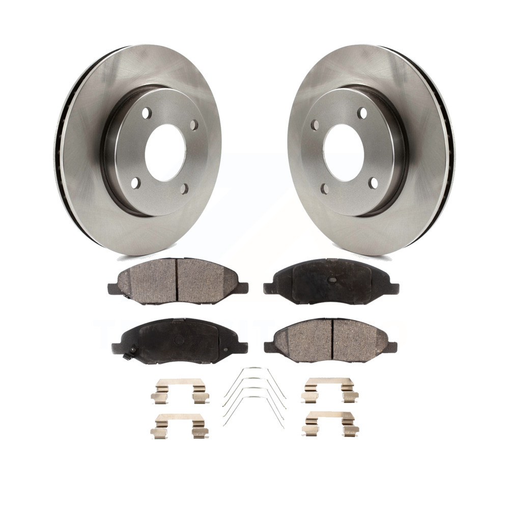 2009 2010 2011 for Nissan Cube Coated Brake Rotors and Ceramic Pads Front