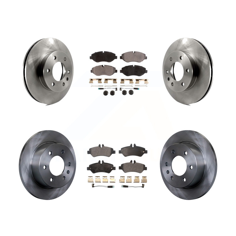 2016 For Mercedes-Benz Sprinter 2500 Rear Disc Brake Rotors and Ceramic Brake Pads