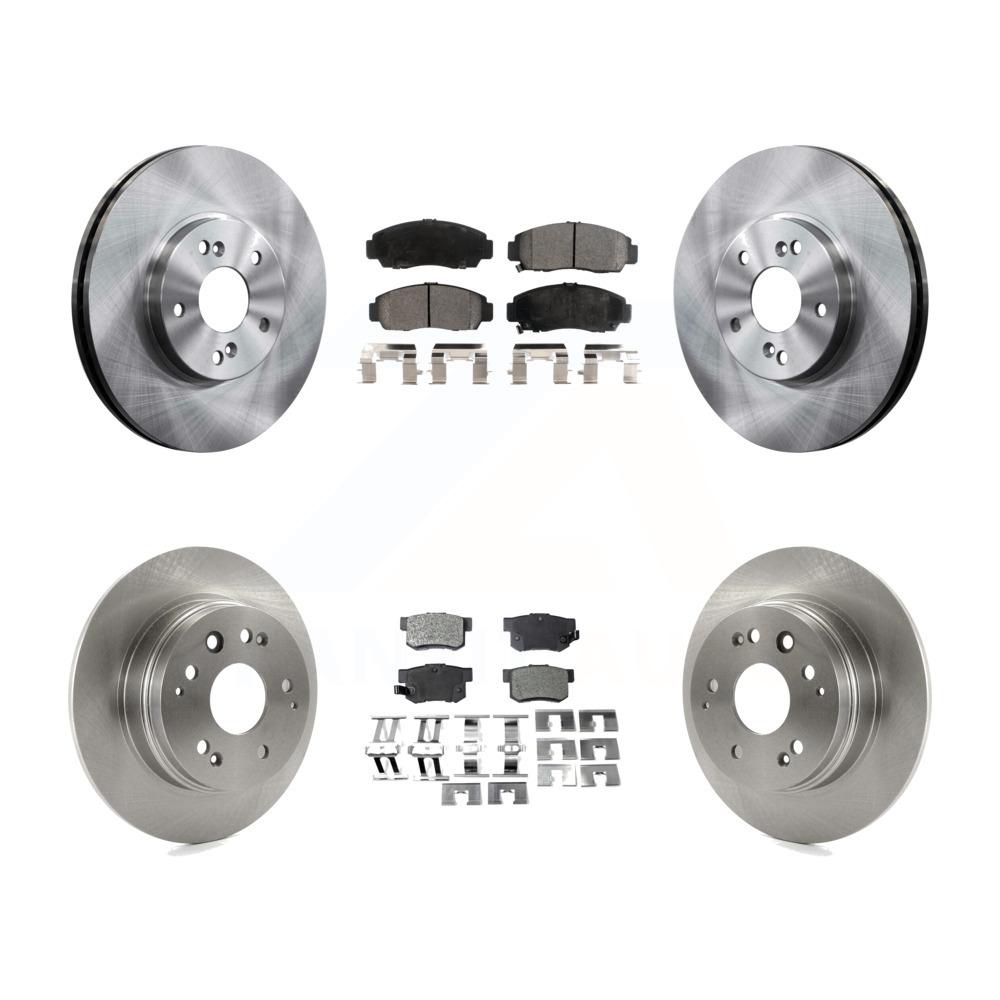 Front Rear Disc Brake Rotors And Ceramic Pads Kit 2001