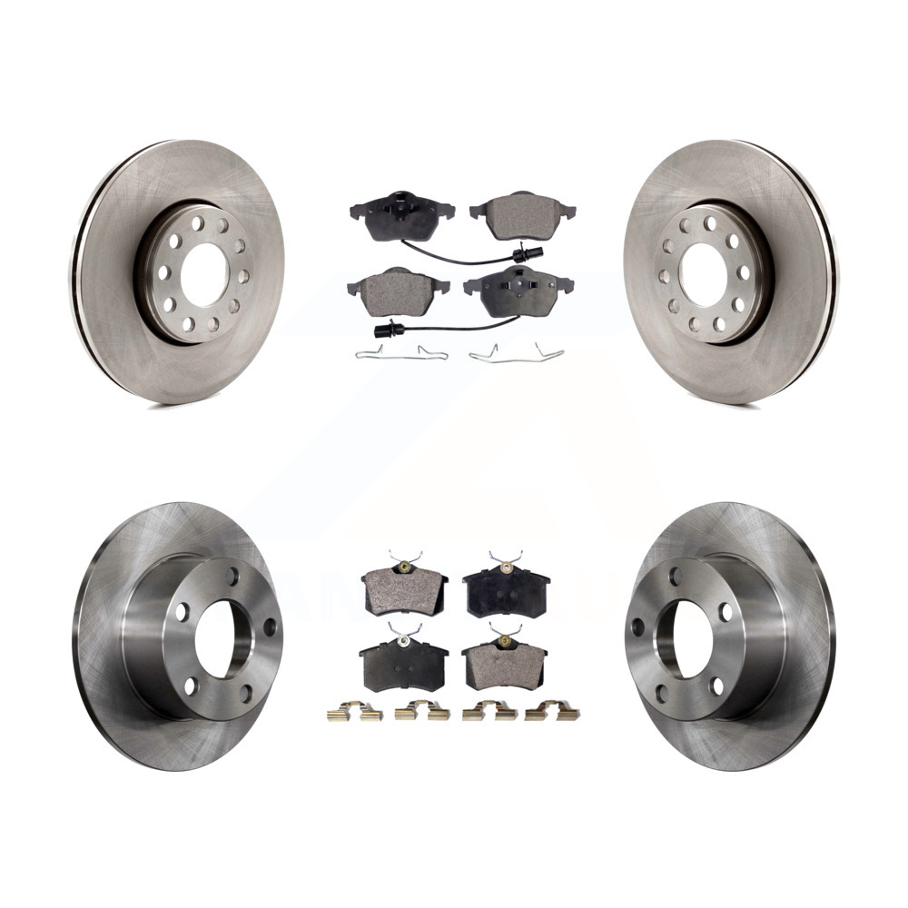 2005 For Volkswagen Passat Front Disc Brake Rotors and Ceramic Brake Pads Note: w//288mm Dia Rotor; From VIN# 3B3427147