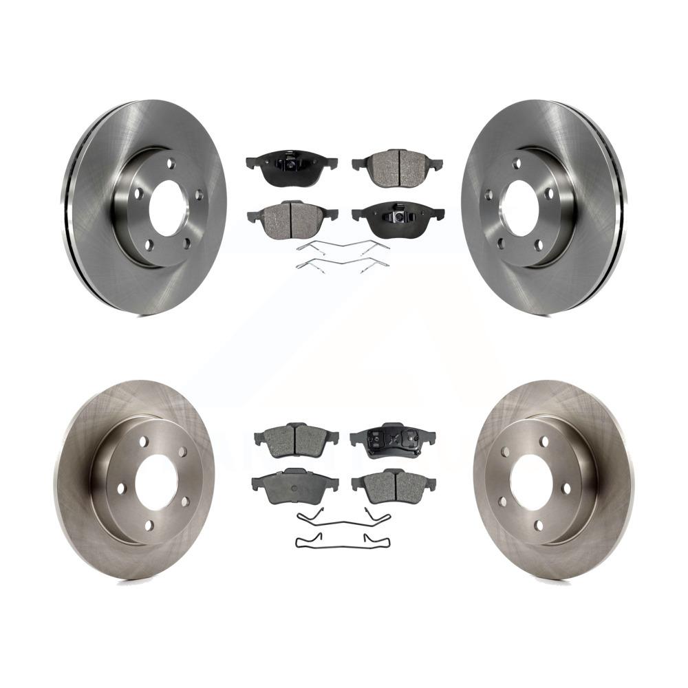 Front And Rear Brake Rotors /& Ceramic Pads For 2003 2004 2005 MAZDA 3 2.0L