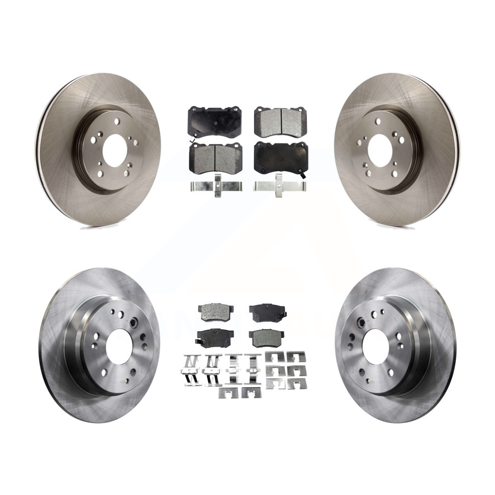 Front Rear Disc Brake Rotors And Ceramic Pads Kit Acura TL
