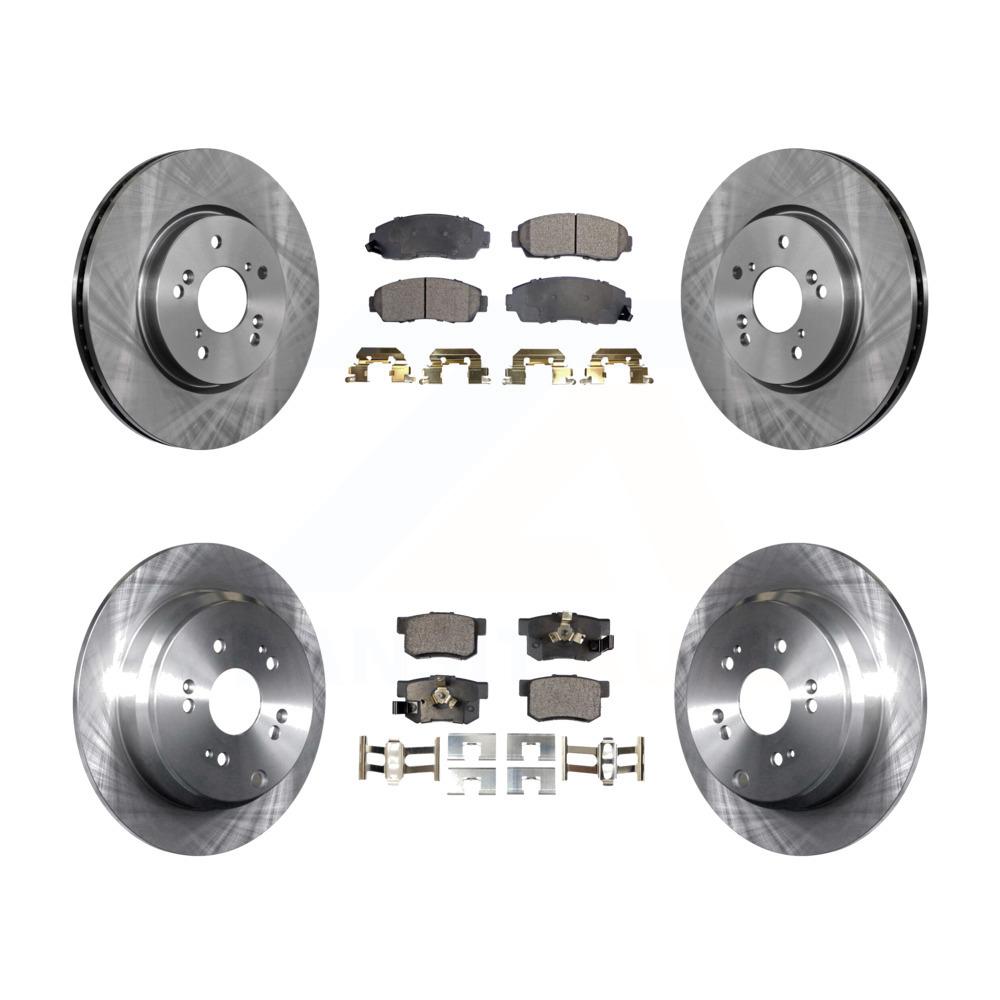 Front Rear Disc Brake Rotors And Ceramic Pads Kit Honda CR