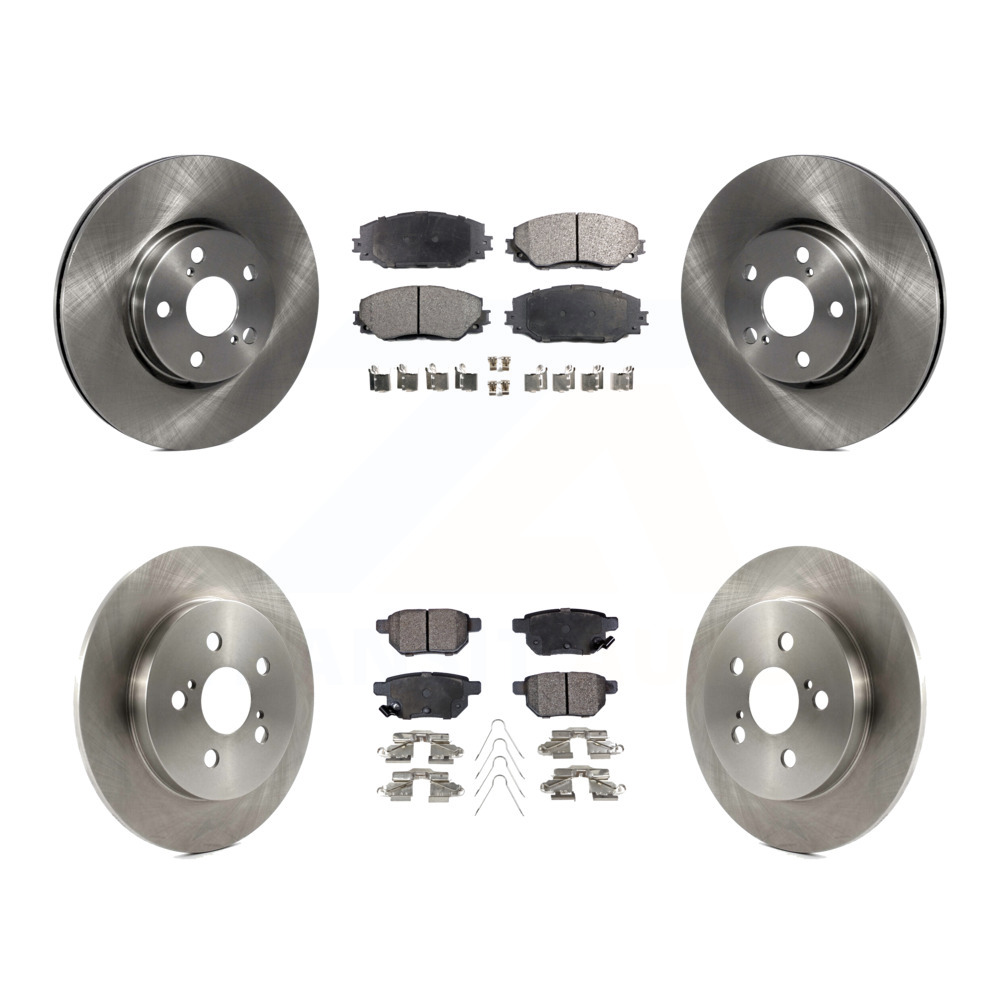 2009-2011 2012 2013 2014 2015 2016 2017 TOYOTA COROLLA Friction Master Front Premium Brake Rotors /& Ceramic Pads FITS