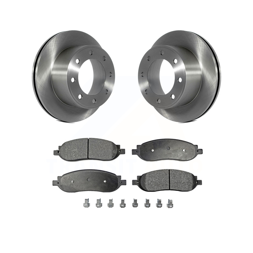 Front Rear Discs Brake Rotors and Ceramic Pads For Ford F-250 Super Duty 10-11