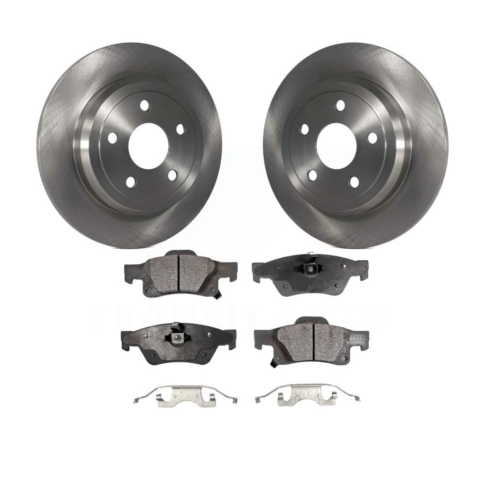 2 Rear Brake Disc Rotors For Dodge Durango Jeep Grand Cherokee