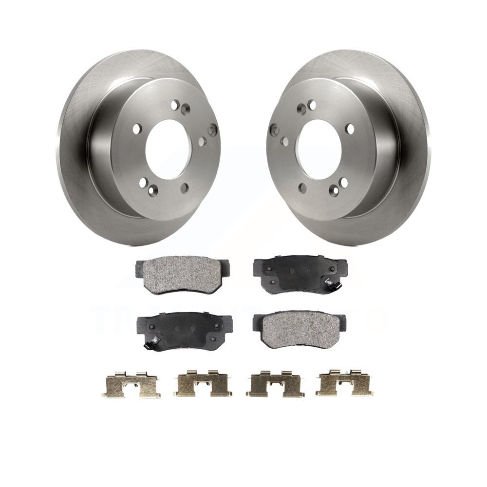 2008 2009 Fits Hyundai Tucson FWD OE Replacement Rotors w//Ceramic Pads R