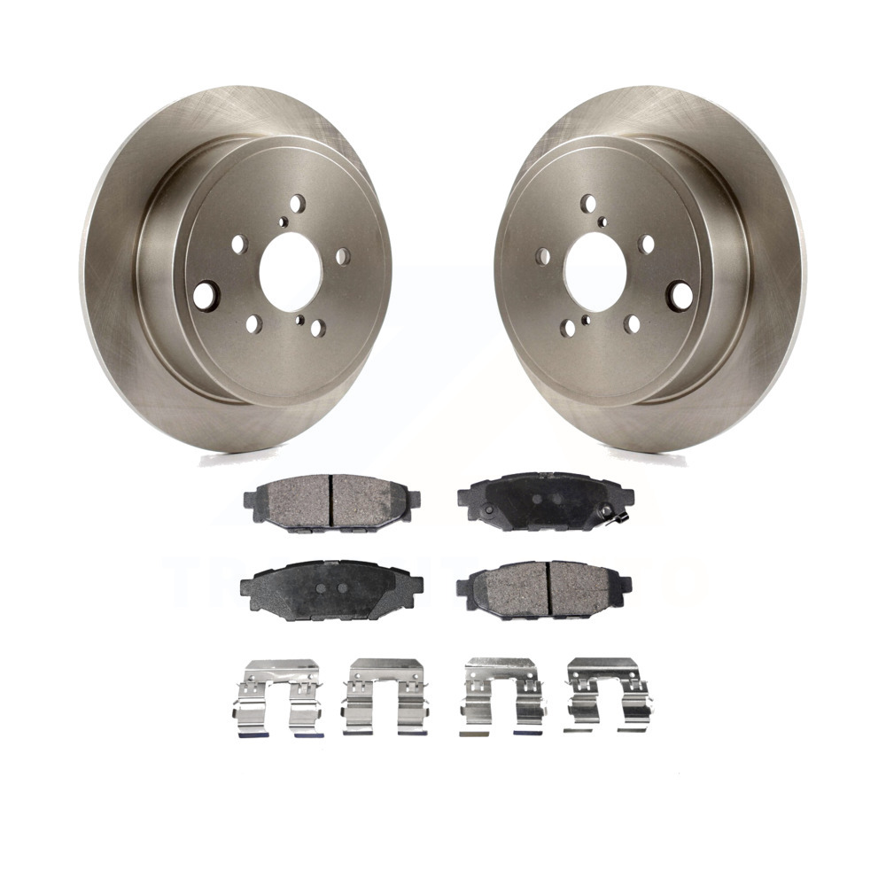 Rear Disc Rotors /& Ceramic Brake Pads For Scion Subaru FR-S Legacy Outback