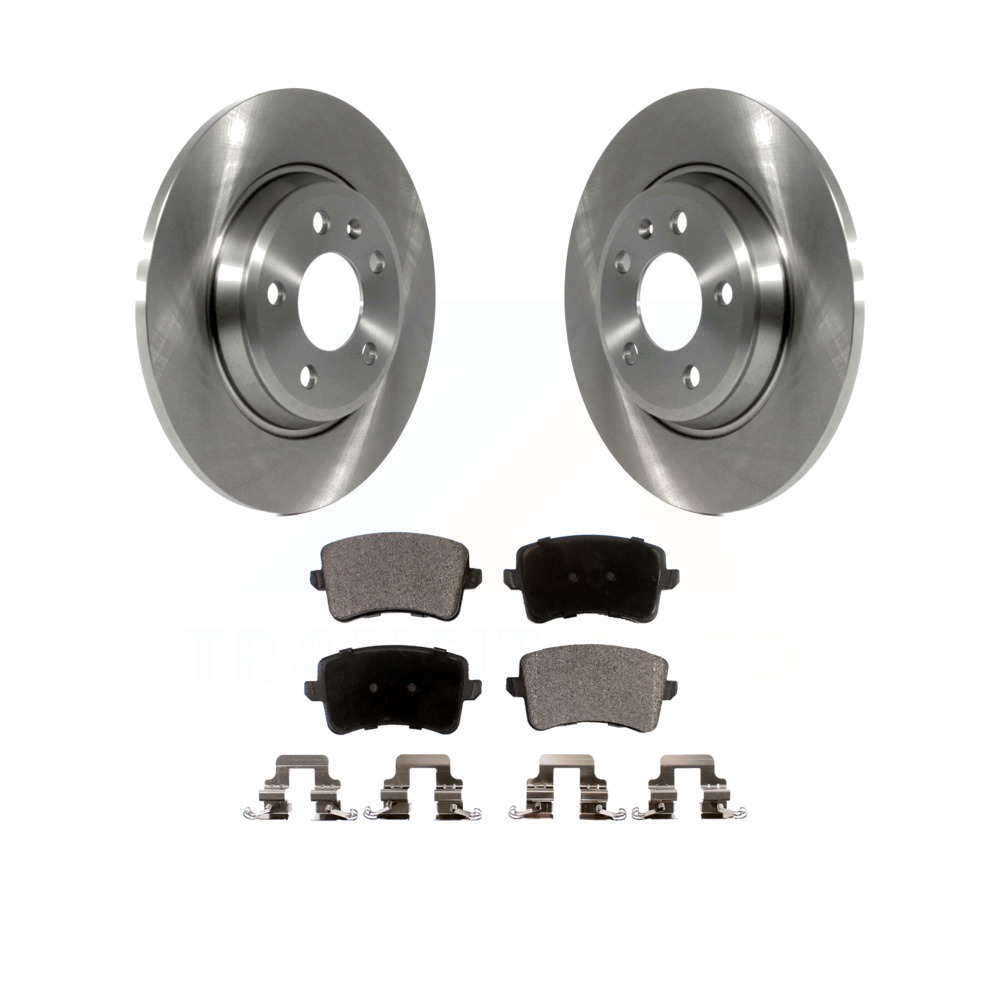 2008 2009 VW Jetta A5 See Desc. OE Replacement Rotors Ceramic Pads F