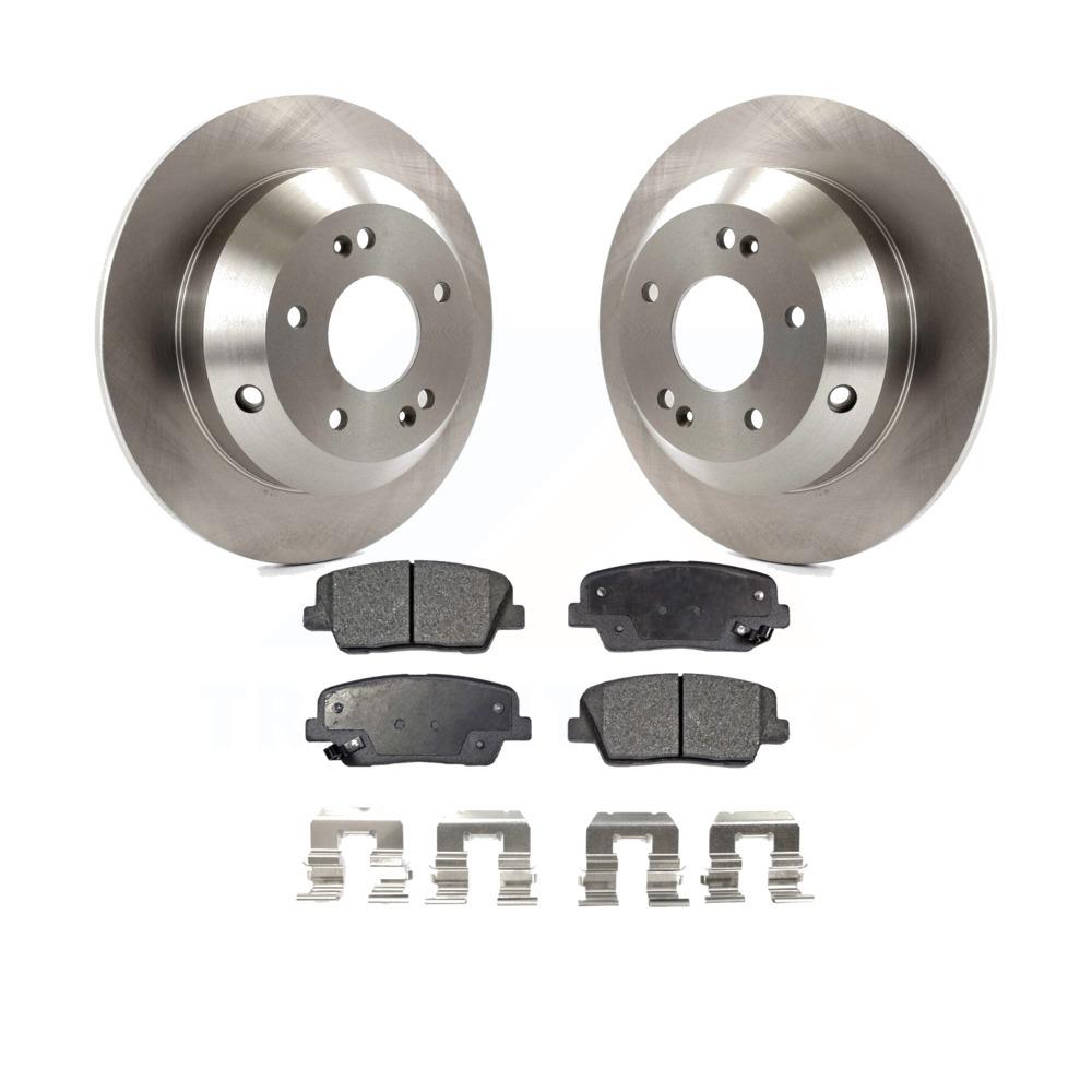 2016 for Hyundai Santa Fe Disc Brake Rotors and Ceramic Pads Front and Rear