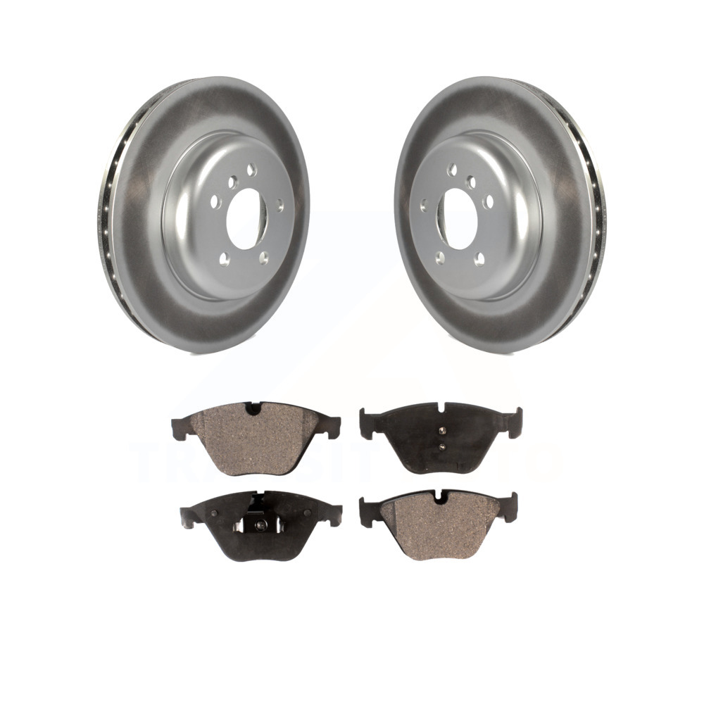 Front Coated Disc Rotors /& Semi-Metallic Brake Pads For Nissan Quest