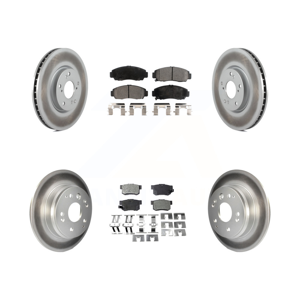 Front Rear Coated Disc Brake Rotors And Semi-Metallic Pad