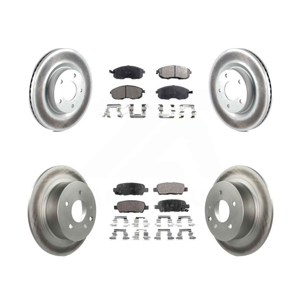 Front Disc Rotors /& Semi-Metallic Brake Pads For Nissan Altima