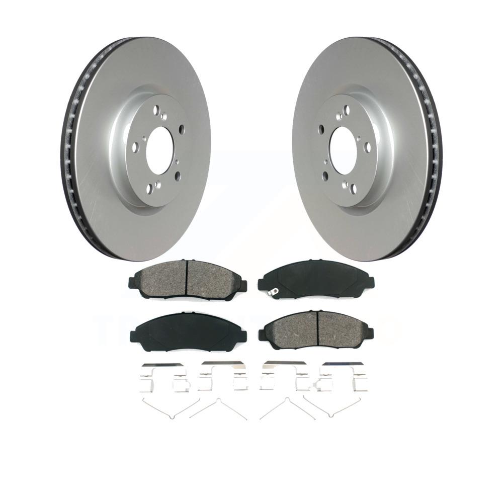 Front Coated Disc Brake Rotors & Semi-Metallic Pad Honda