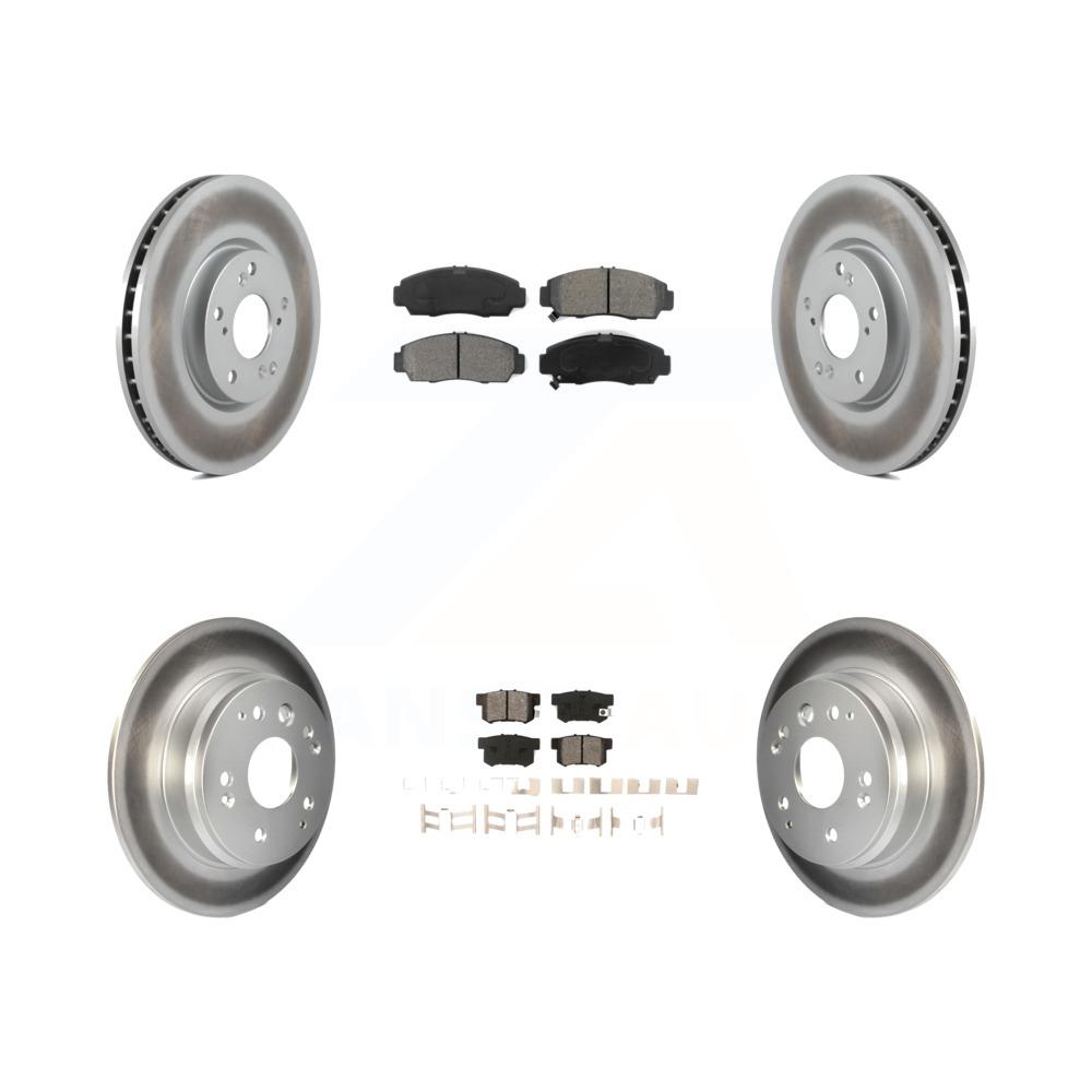Front Rear Coated Disc Brake Rotors And Semi-Metallic Pad