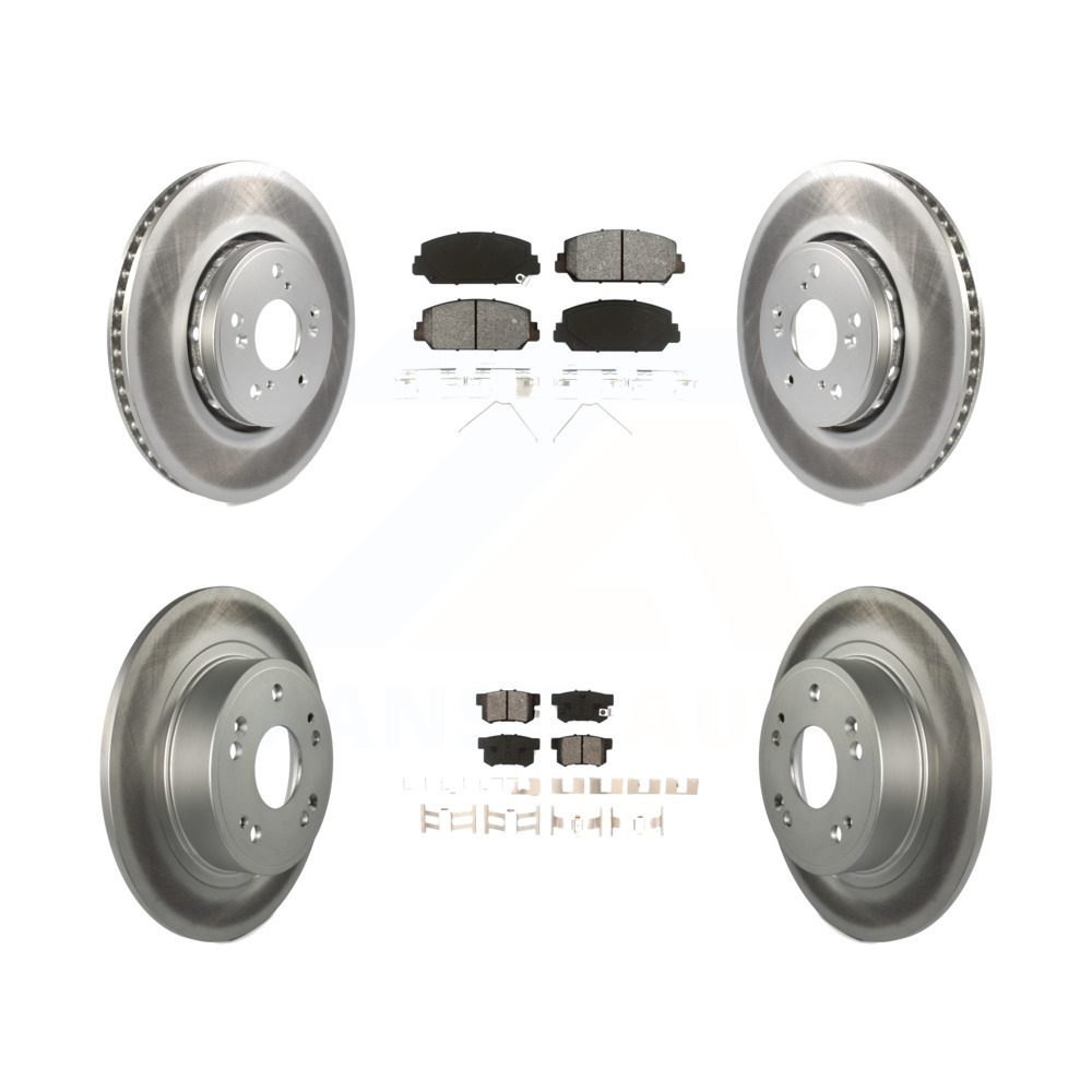 Front Rear Coated Disc Brake Rotors And Semi-Metallic Pads