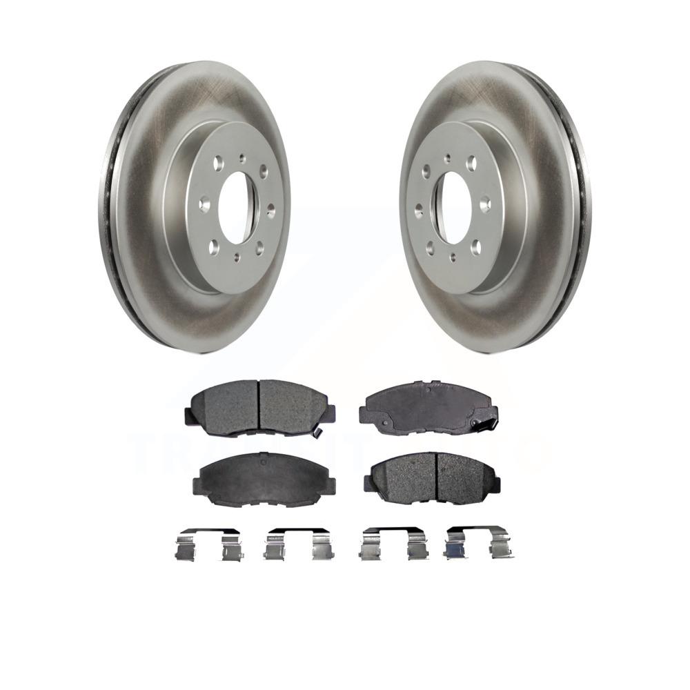 Front Coated Disc Brake Rotors And Ceramic Pads Kit Honda