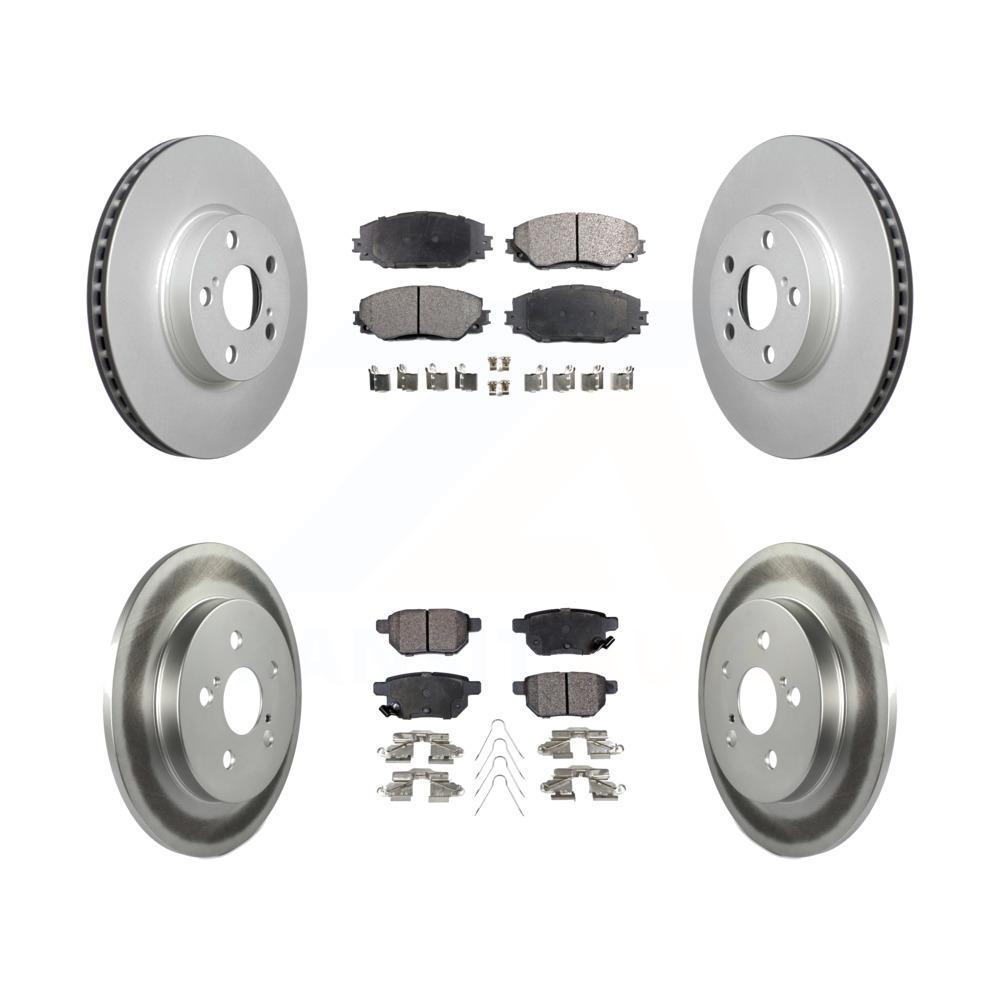 For 2009-2013 Pontiac,Toyota Vibe,Corolla,Matrix Front Rear Drilled Brake Rotors