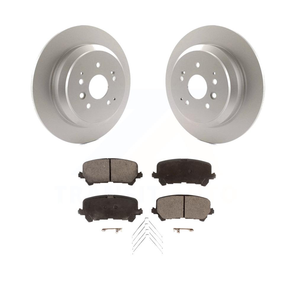 Rear Coated Disc Brake Rotors And Ceramic Pads Kit 2014