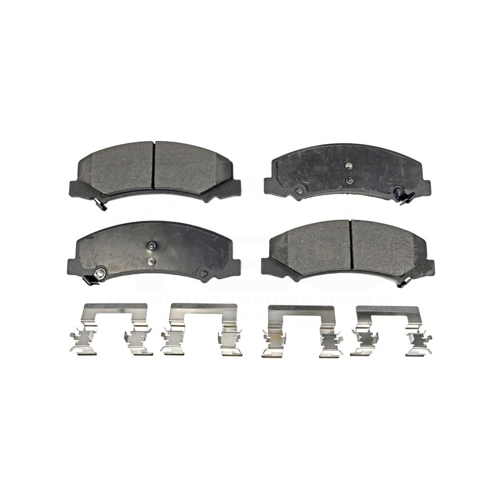 Front Ceramic Brake Pad Kit for Allure LaCrosse Lucerne DTS Impala Limited