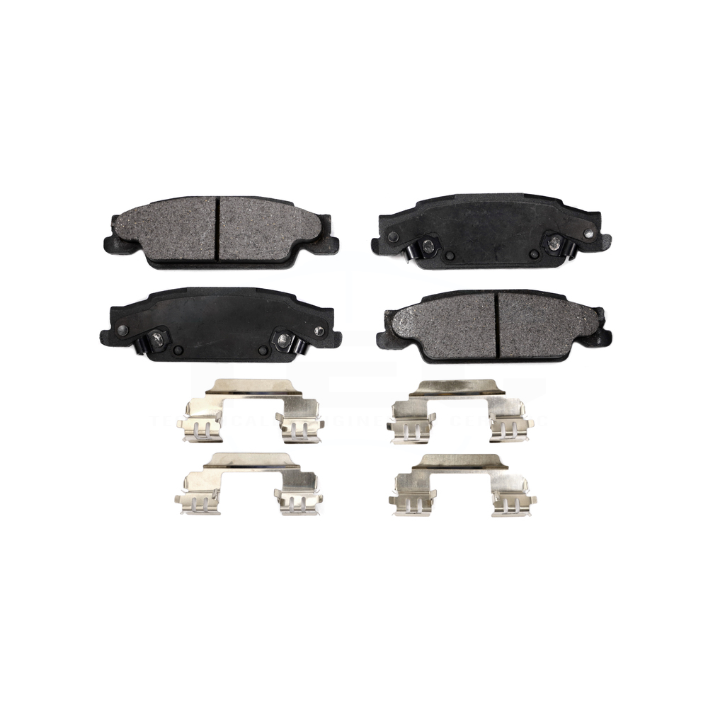 Front /& Rear Ceramic Brake Pads w//Clips for Cadillac CTS STS Pontiac Grand Prix