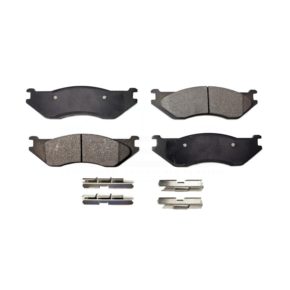 FRONT CERAMIC BRAKE PADS FOR DODGE 1500 2002 2003 2004 2005 D966